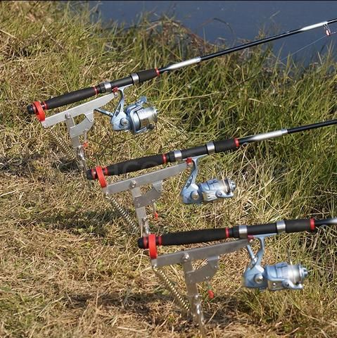"DOUBLE SPRING AUTOMATIC ADJUSTABLE FISHING ROD POLE STAND ""FREE SHIPPING"""