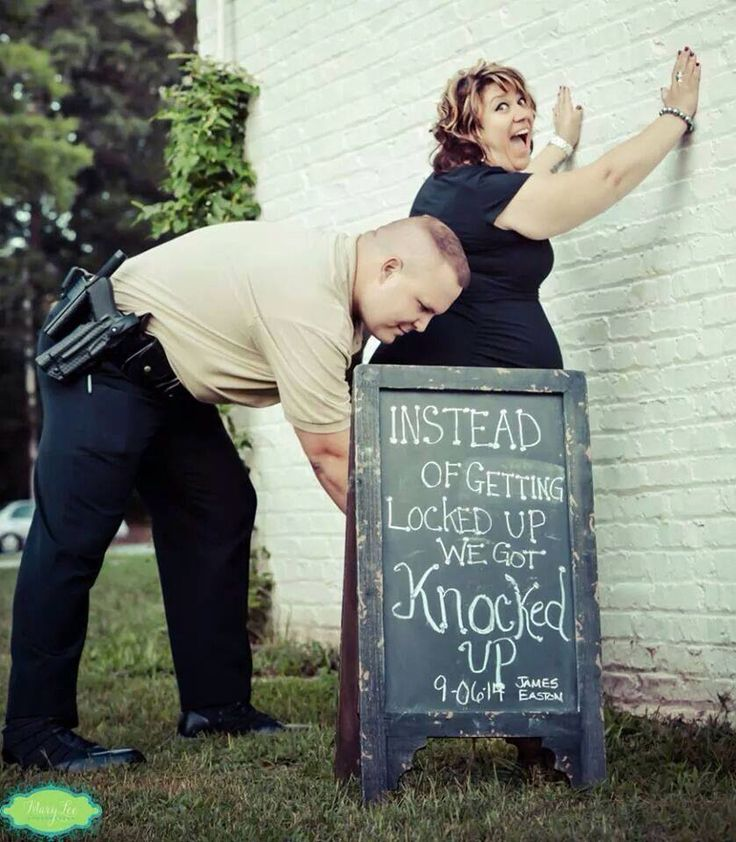 Police family pregnancy announcement.  Hahahaha