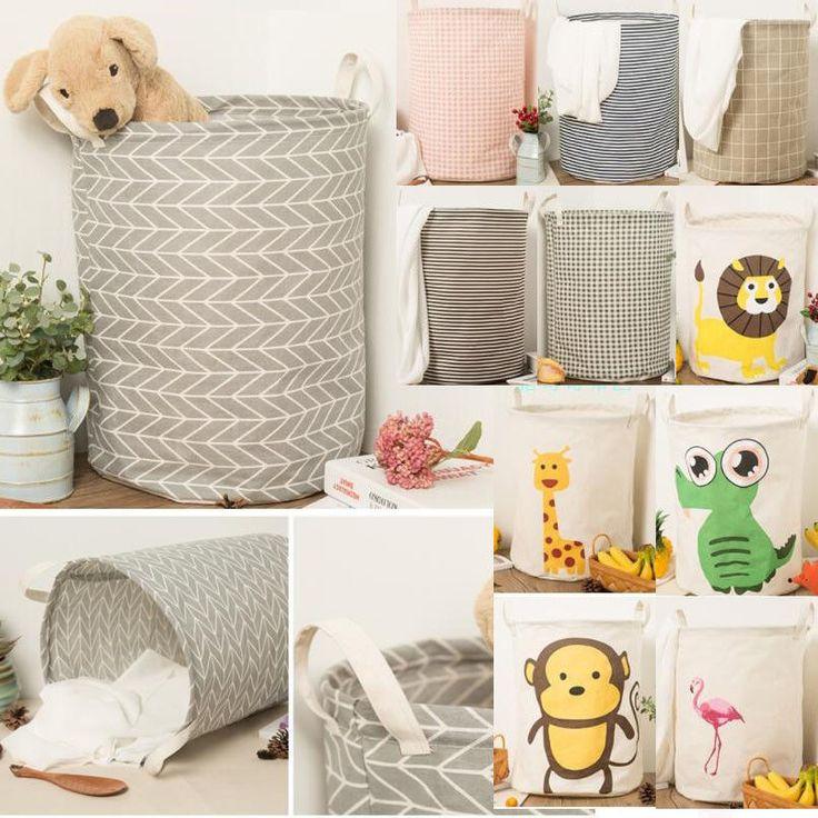 Dirty Clothes Storage Bag Basket Laundry Diamante Washing Bin Foldable Hamper  | eBay