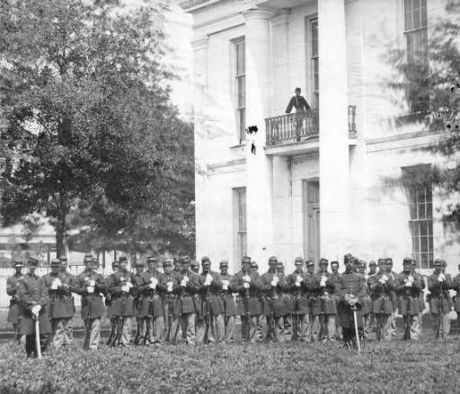 Baton Rouge courthouse with Federal troops during the Civil War. :: 'Andrew D. Lytle's Baton Rouge' Photograph Collection