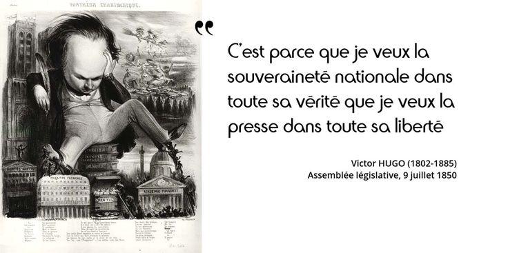 Victor Hugo s'oppose ici à la loi sur la presse qui va rétablir le timbre et le cautionnement, le 16 juillet