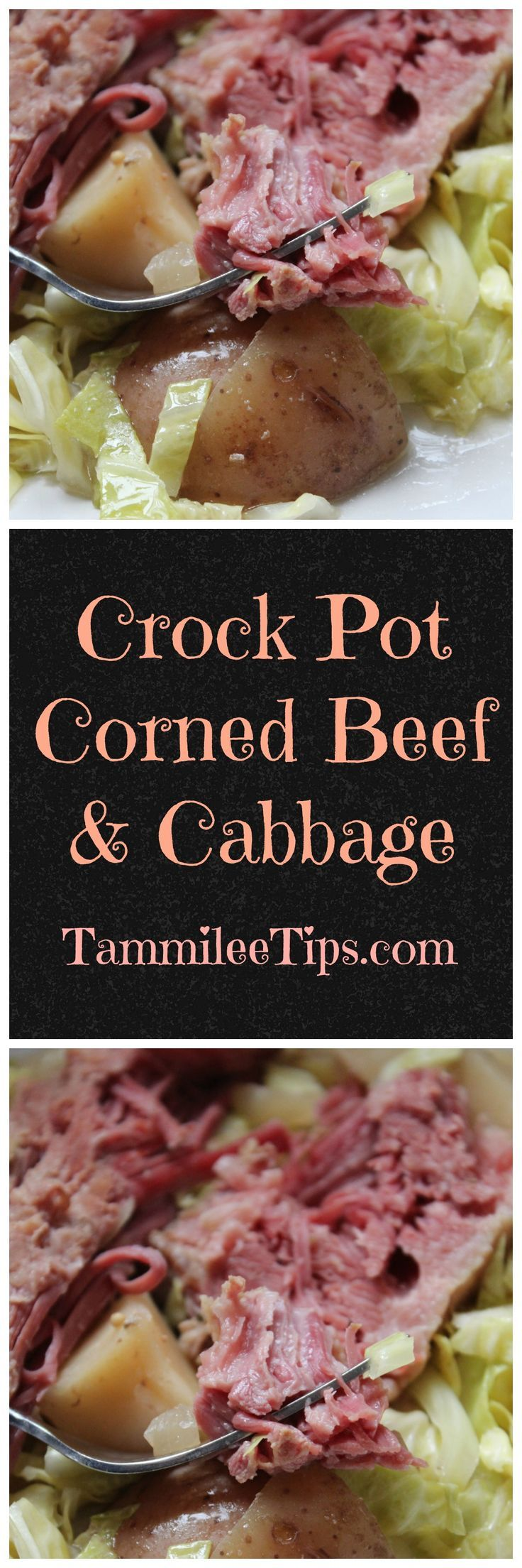 Crock Pot Corned Beef and Cabbage Recipe not just for St. Patrick Day! This easy slow cooker recipe is one of our best recipes! Made with cabbage, beer, and potatoes you just can't go wrong!