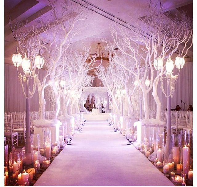 Candles Lining The Aisle, Not The Tree Branches