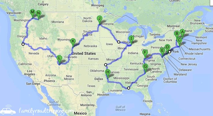 How to Road Trip Each of the Lower 48 States in 124 Hours