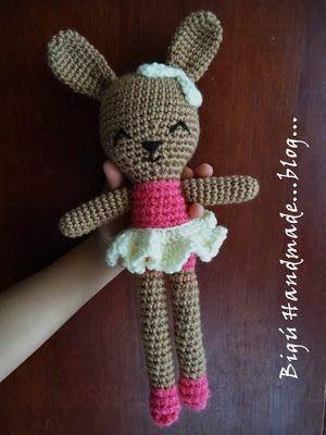 Bigú Handmade: Coneja amigurumi...Bunny amigurumi