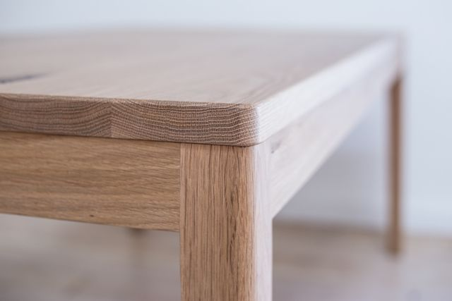 Mayfield American White Oak Dining Table By Retrograde