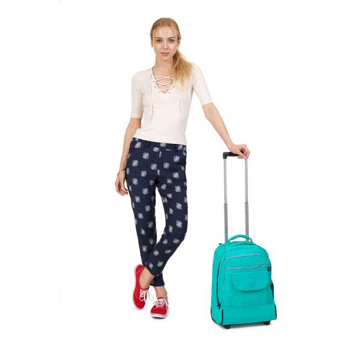 Sanaa Wheeled Backpack - Cool Turquoise