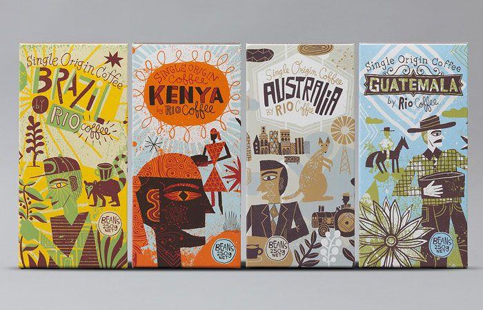 Rio Coffee Designed by Voice Design, Australia - Illustration by Nate Williams