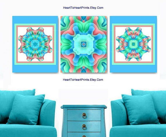 Turquoise Wall Art Turquoise Wall Decor Teal Green Aqua Art Etsy Aqua Wall Art Turquoise Wall Art Turquoise wall decor living room