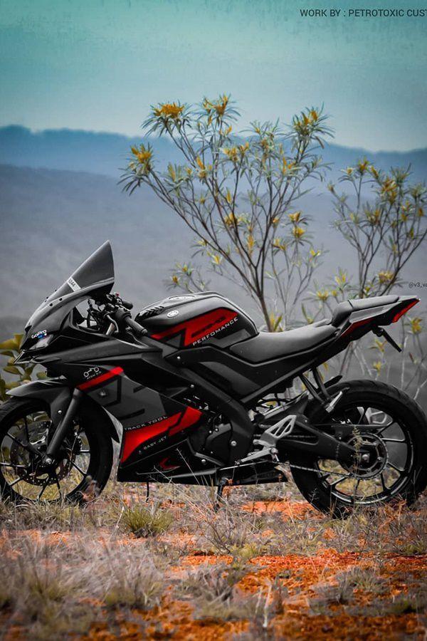 Modified Black Red Yamaha R15 V3 Modifiedx Bike Pic Best Photo Background Bike Photo