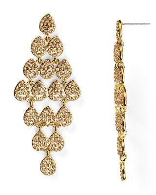 Carolee Pavé Kite Chandelier Earrings   Bloomingdale's