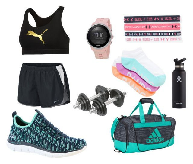 Sport outfit by larissavanderzijdenxo on Polyvore featuring mode, NIKE, Puma, Skechers, adidas, Suunto, Under Armour and Hydro Flask