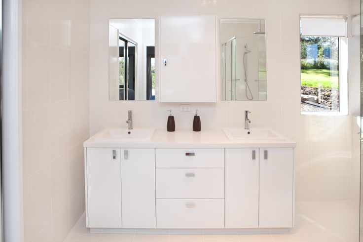 Double basins are ideal for a larger family that experiences rush hour every morning. www.onecallkitchens.com.au