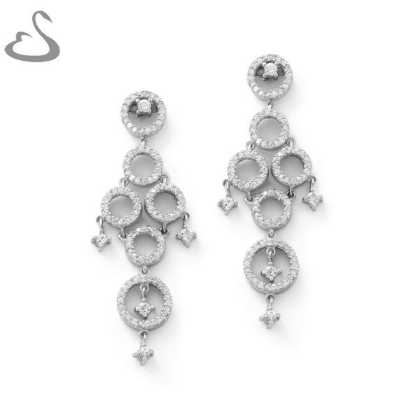 925 Sterling Silver and Cubics. Code: ER-130. Company: Vera's Bridal Collection. Website: www.verasbridalcollection.co.za