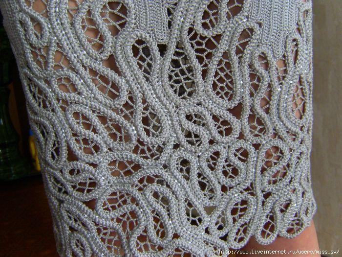 Romanian Point Lace Crochet - dress details
