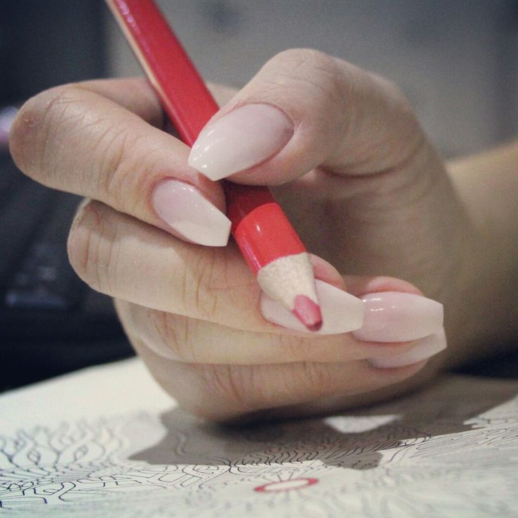 Ballerina ombre nails