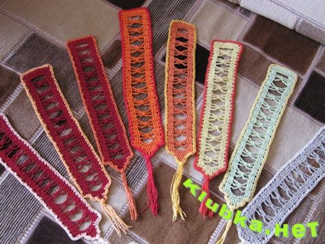 FREE DIAGRAM ~ Crocheted bookmarks for books