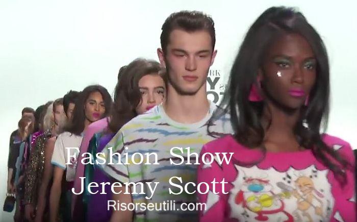 Fashion show Jeremy Scott fall winter 2016 2017 womenswear