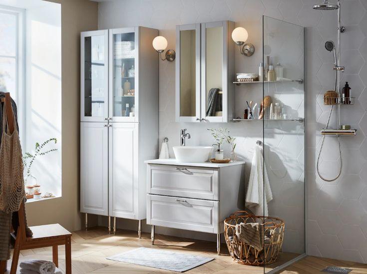 Small Bathroom Design, Floor Bathroom Cabinet Ikea