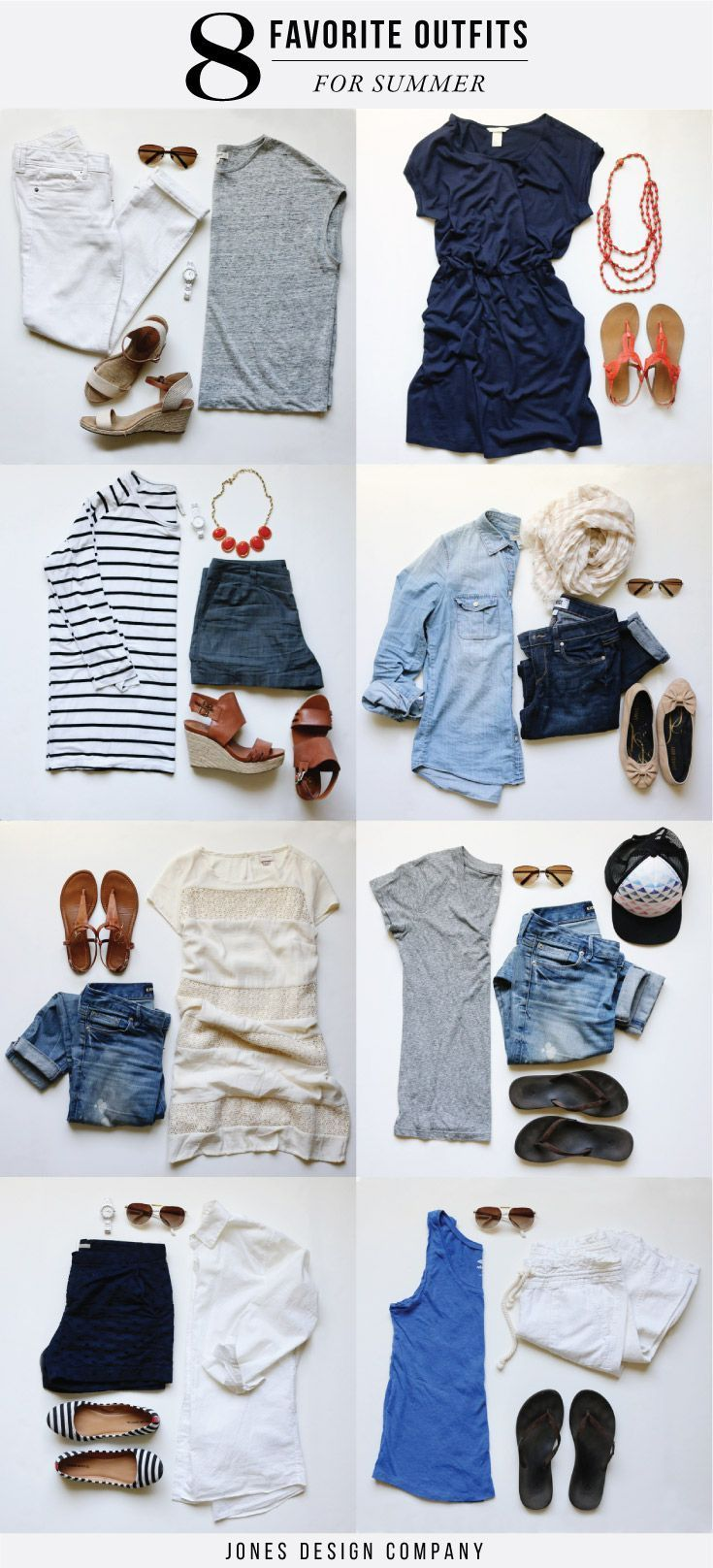 eight favorite outfits for summer