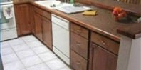Removing a pot/pan burn from a counter top.