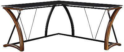 Computer Desks For Home Office Corner L Shaped Glass Top Student Furniture Sale
