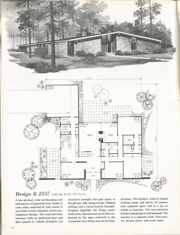 Mid Century Modern Home Plans 268 best vintage exteriors & plans images on pinterest | vintage
