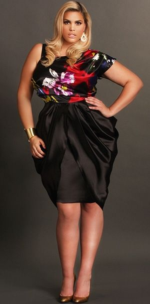 black date dress.  stylishdressing://curvybetty.tumblr.com