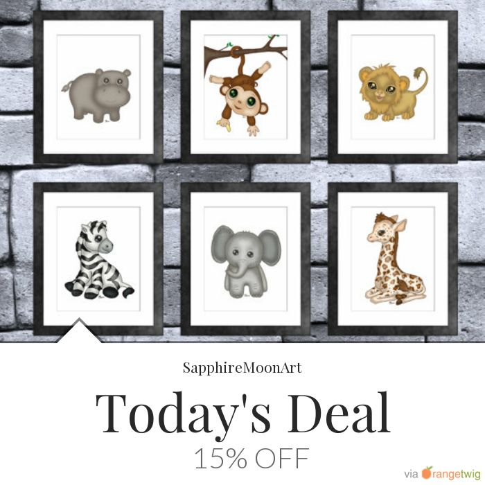 Today Only! 15% OFF this item.  Follow us on Pinterest to be the first to see our exciting Daily Deals. Today's Product: Sale -  Jungle Baby Animal Print Set of 6 Buy now: https://small.bz/AAgUK71 #etsy #etsyseller #etsyshop #etsylove #etsyfinds #etsygifts #musthave #loveit #instacool #shop #shopping #onlineshopping #instashop #instagood #instafollow #photooftheday #picoftheday #love #OTstores #smallbiz #sale #dailydeal #dealoftheday #todayonly #instadaily #instasale