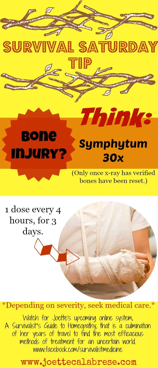 What will you do in the event of a bone injury? Check out this gem and share it with your friends.