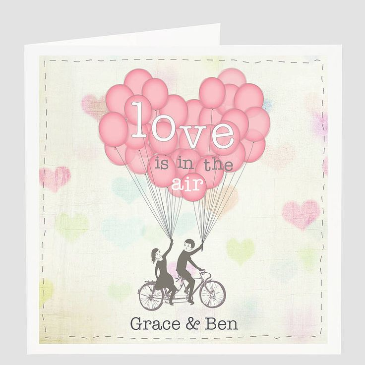 personalised 'love is in the air' card by violet pickles | notonthehighstreet.com