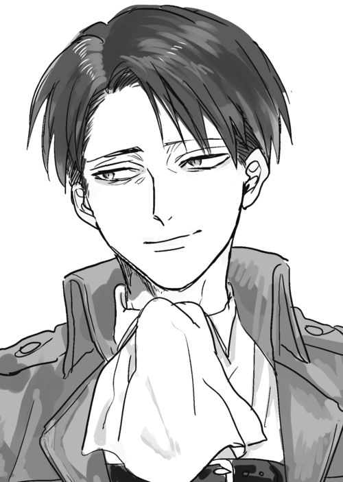 If Levi smiled the fandom would die. We'd all just go, 'Well now he's happy.' He'll smile at the end. Make it happen Isayama. Don't mess the ending up.