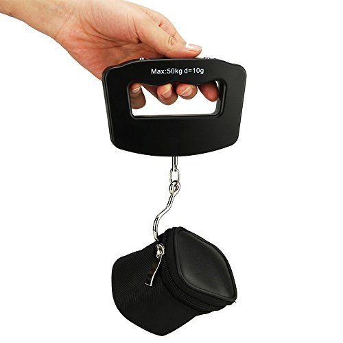 VMargera 50kg 10g Portable LCD Digital Hanging Luggage Fish Weighing Weight Electronic Hook Scale -- You can get additional details at the image link.