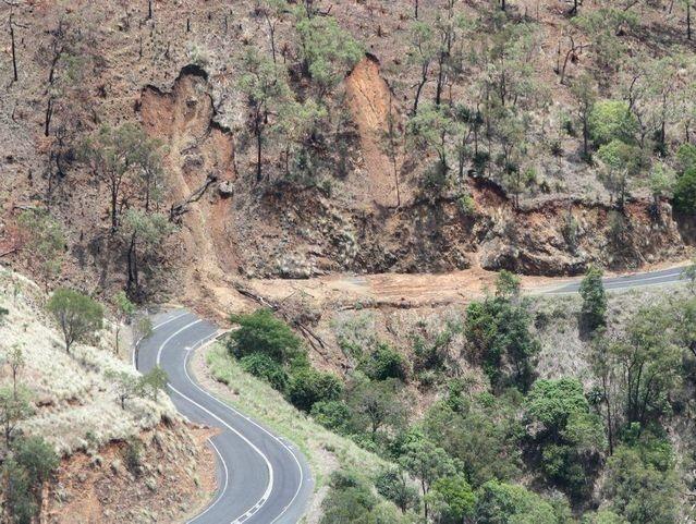 Mt Morgan Range landslide after rains 2013 near Rockhampton, Queensland
