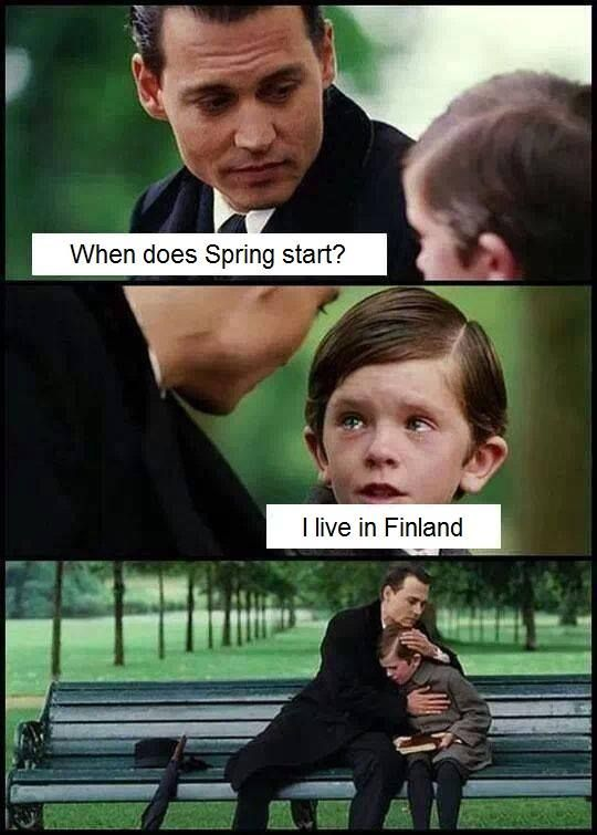 Spring in Finland ...