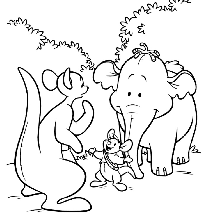 heffalumps and woozles coloring pages - photo#10