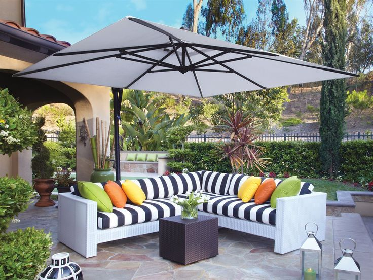 Best 25 Cantilever umbrella ideas on Pinterest Deck umbrella