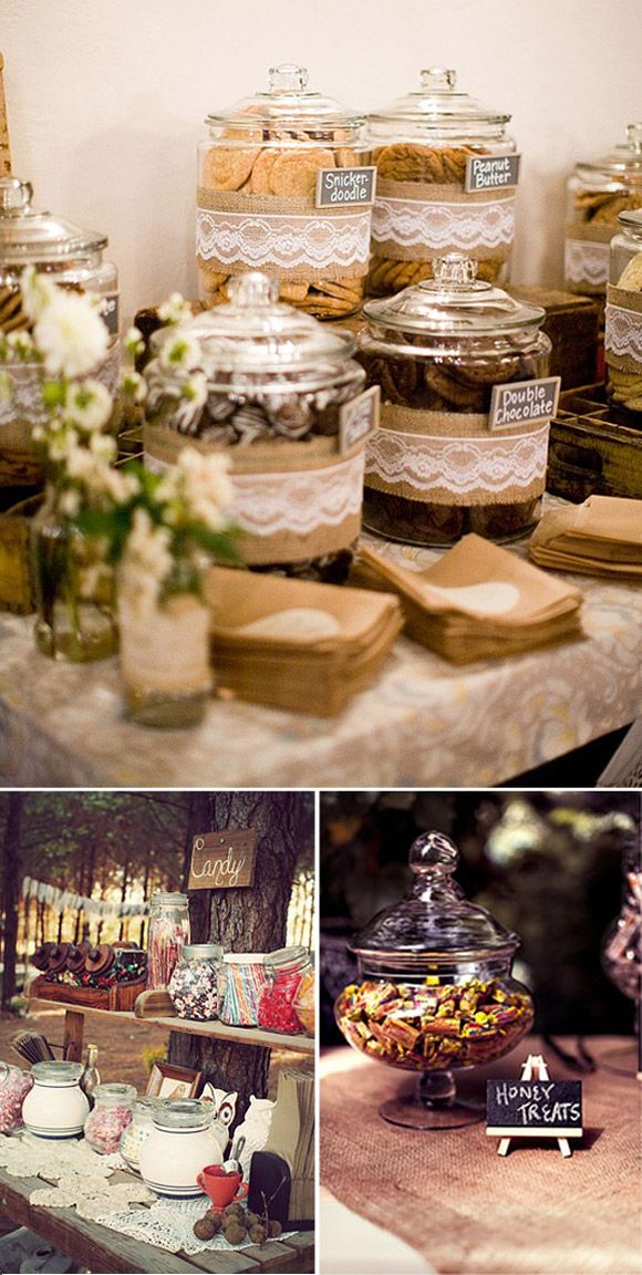 Ideas para montar un candy bar en tu boda