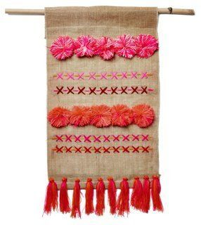Obsessed with this handmade burlap wall hanging!
