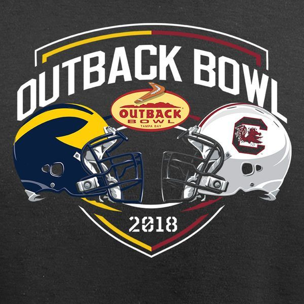 2018 Outback Bowl South Carolina Gamecocks vs Michigan Wolverines https://www.fanprint.com/licenses/air-force-falcons?ref=5750