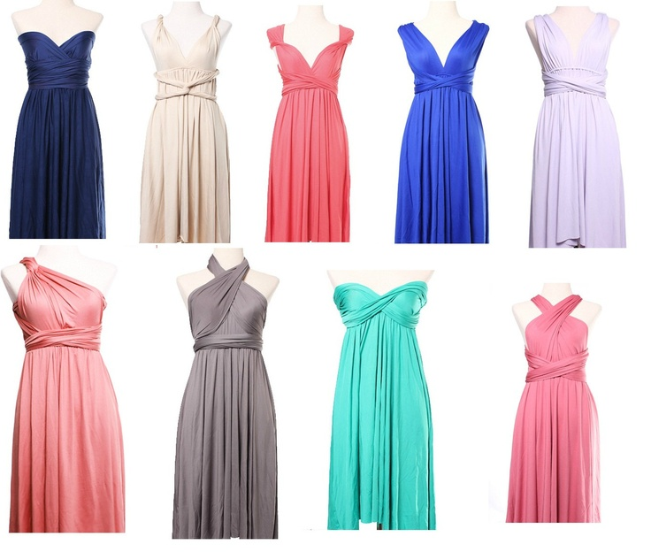 Bridesmaid Multi-Way Dress - The One and Only CONVERTIBLE Infinite Infinity Dress for all Occasions. $62.00, via Etsy.