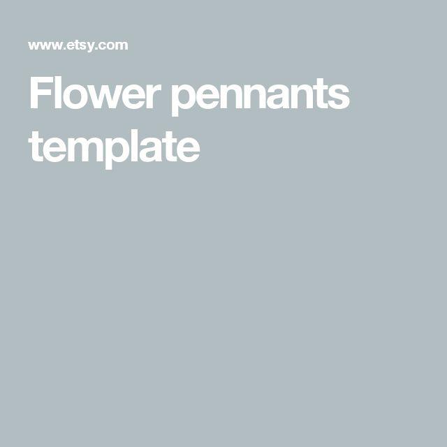 Flower pennants template