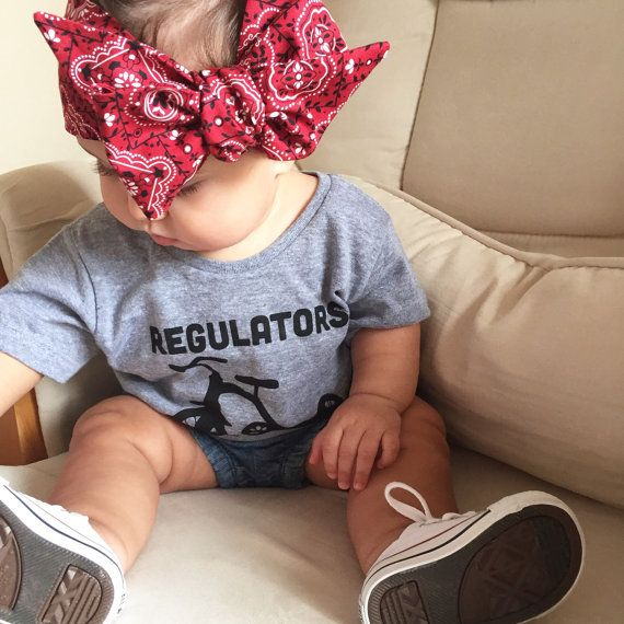 Bandana baby baby head wrap baby turban big bow by LilTotShop