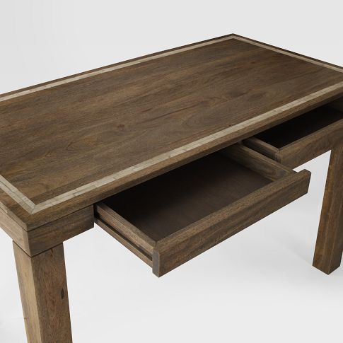 Parsons Desk Westelm Mango Wood With Bone Inlay Picture