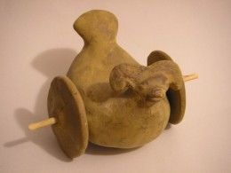 Ancient Toy used in Indus Valley Civilization. From the Harappa site (2600–1900 BC).