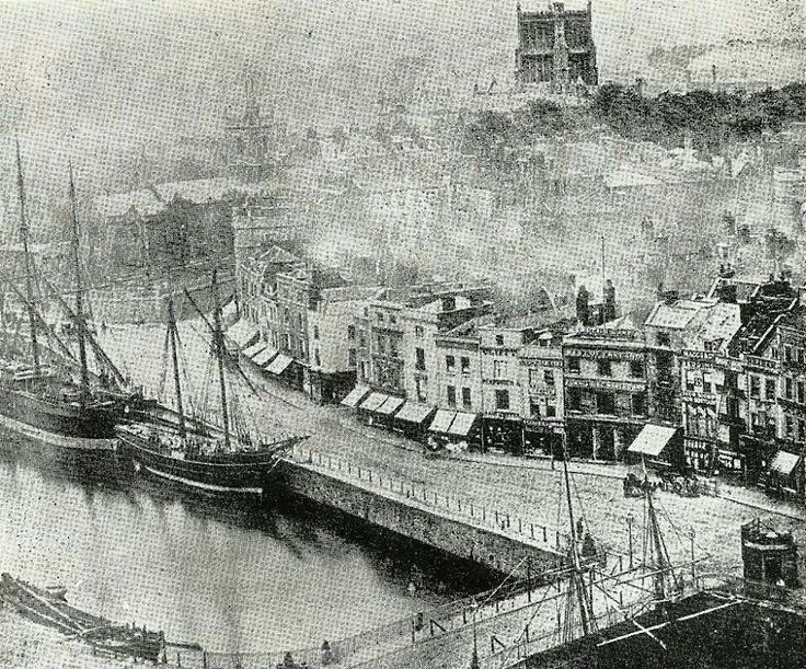 Bristol city centre,  1864