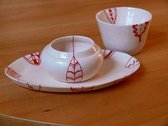 tea drinking set ceramics with ornament ware with von ZERAMIC