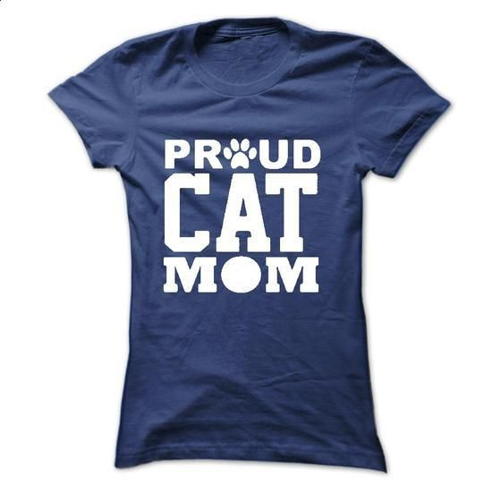 Pround Cat Mom - #funny tee shirts #t shirts for sale. CHECK PRICE => https://www.sunfrog.com/Pets/Pround-Cat-Mom-Ladies.html?60505