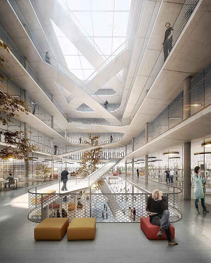 Image result for atrium ramp architecture creativity hub for Interior architecture berlin