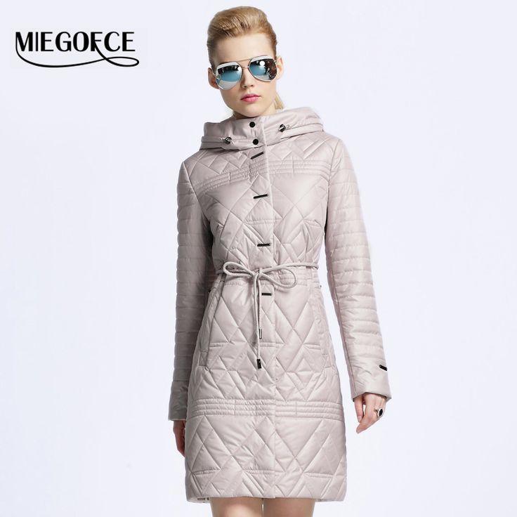 Купить товарMIEGOFCE 2016 женский пуховик пальто женское весна женская парка пуховик весна осень женский новый бренд одежды открытый теплое пальто пиджак женский шляпа съемный Одежда для женщин в категории Пуховики и паркина AliExpress.